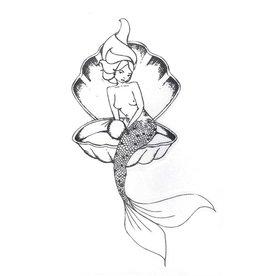 Wings Hawaii Mermaid Stickers
