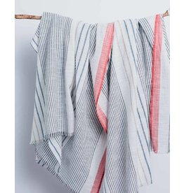 Bloom & Give Bengal Coral Stripe Cotton Scarf