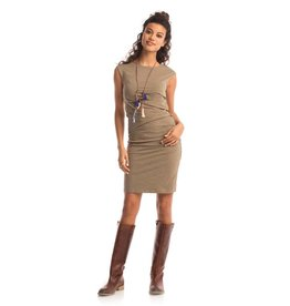 Synergy Column Dress Burnt Olive