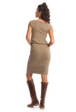 Synergy Column Dress Burnt Olive