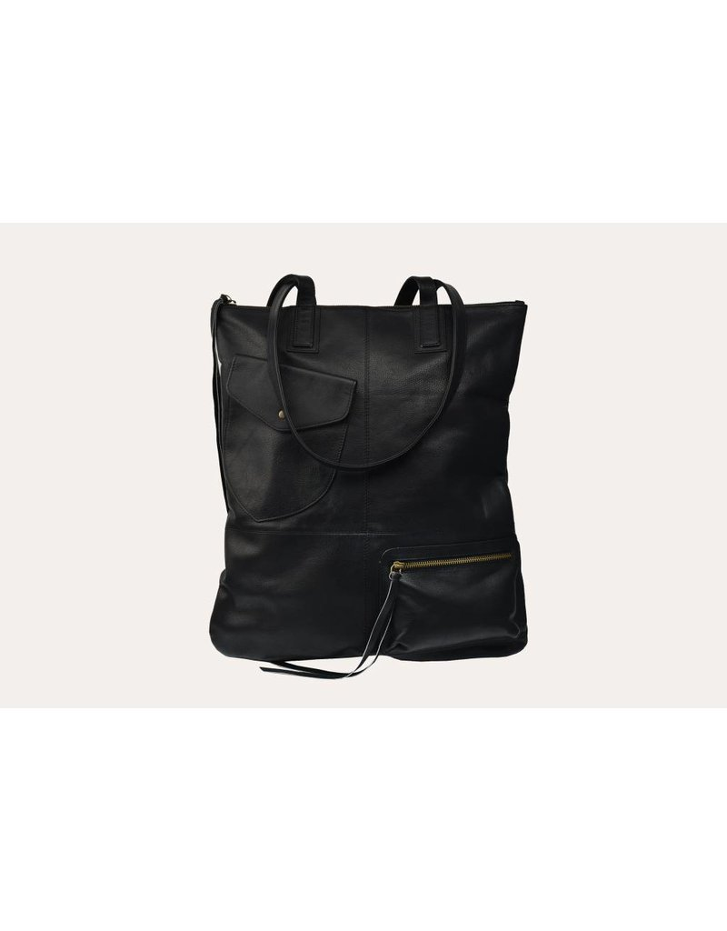 Kiko Leather Fold n Hold Tote