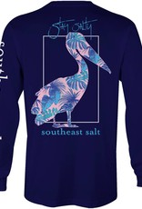 Southeast Salt Blue Leaves Long Sleeve