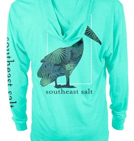 Southeast Salt Green Leaves Performance Hoodie