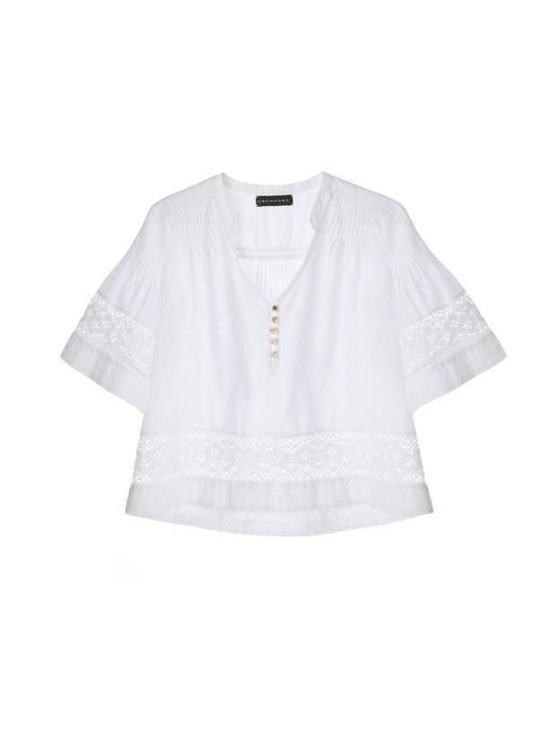 west T-SHIRT WITH FINE PLEATS