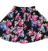 Charm Flair Pleat Skirt Black floral