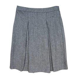Little Cocoon Back Elastic Herringbone Skirt