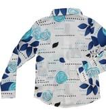 Charm Printed Shirt Blue