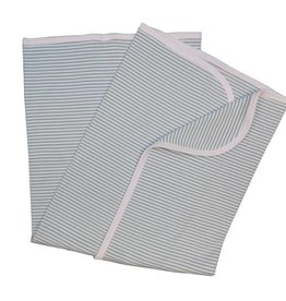 Sippy's Babes White/Grey and Pink Stripe Blanket