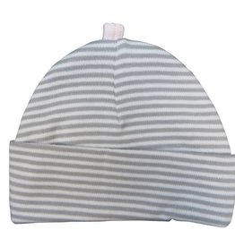 Sippy's Babes White/Grey and Pink Stripe Hat