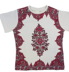 Curly Joe Border Tee with Center Motif
