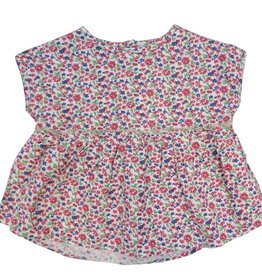 Frenchie Mini Couture Red floral top