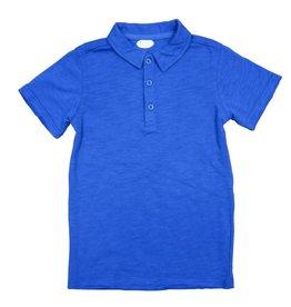 Frenchie Mini Couture Blue Polo Shirt