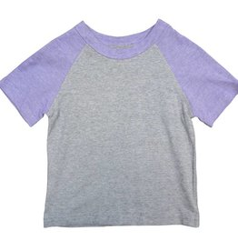 Frenchie Mini Couture Purple and Grey t-shirt