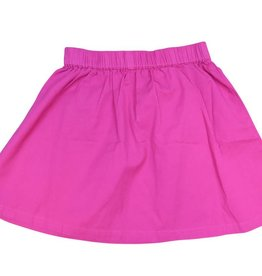 Frenchie Mini Couture Solid Pink Chino Skirt