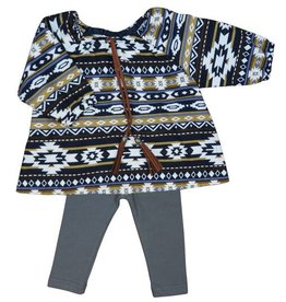 Charm Baby Girl tribal blouse