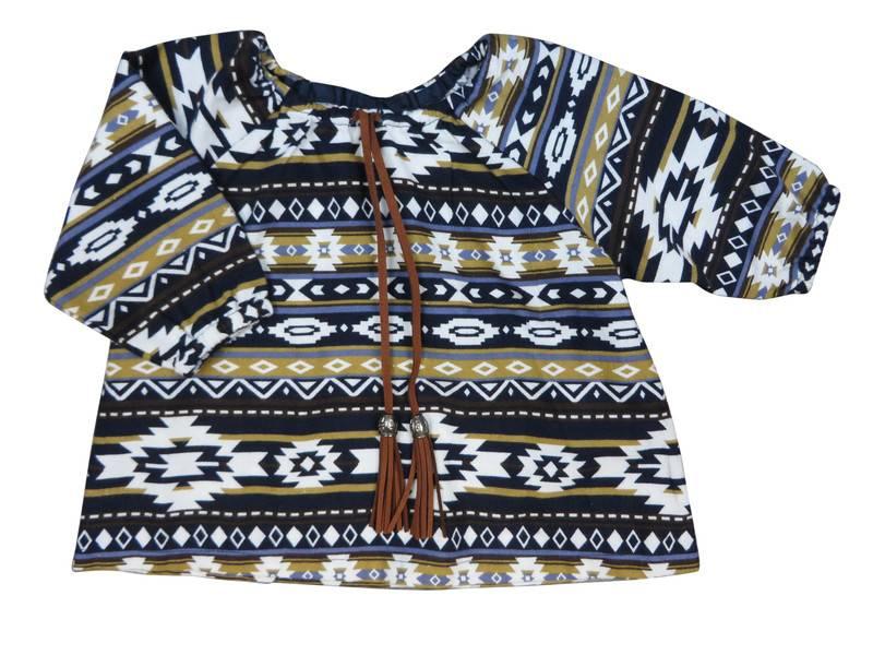 Charm Baby Girl tribal blouse