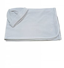 Marquise de Laborde Baby Blanket Beanie Set Light Grey