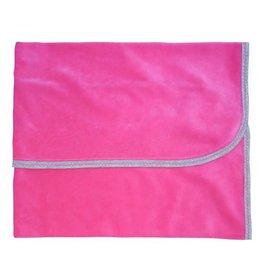 Sippy's Babes Fushia Velour Blanket with ZigZag