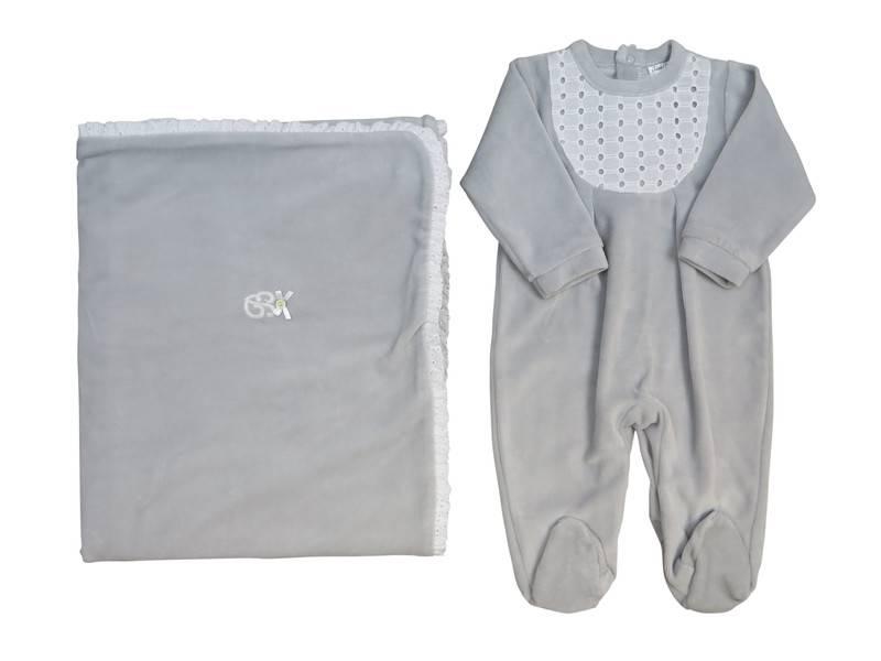 Babidu Grey valour receiving blankets