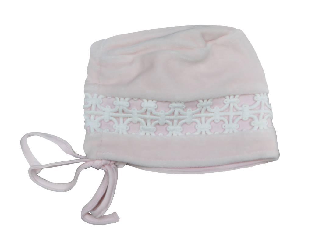 Chant de Joie Pink Hat with Lace