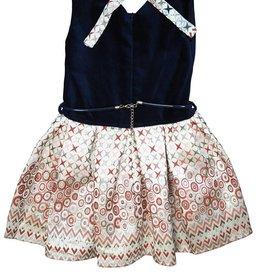 Alitsa Navy Velvet Dress