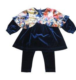 Monalili Navy Floral 2 Pce