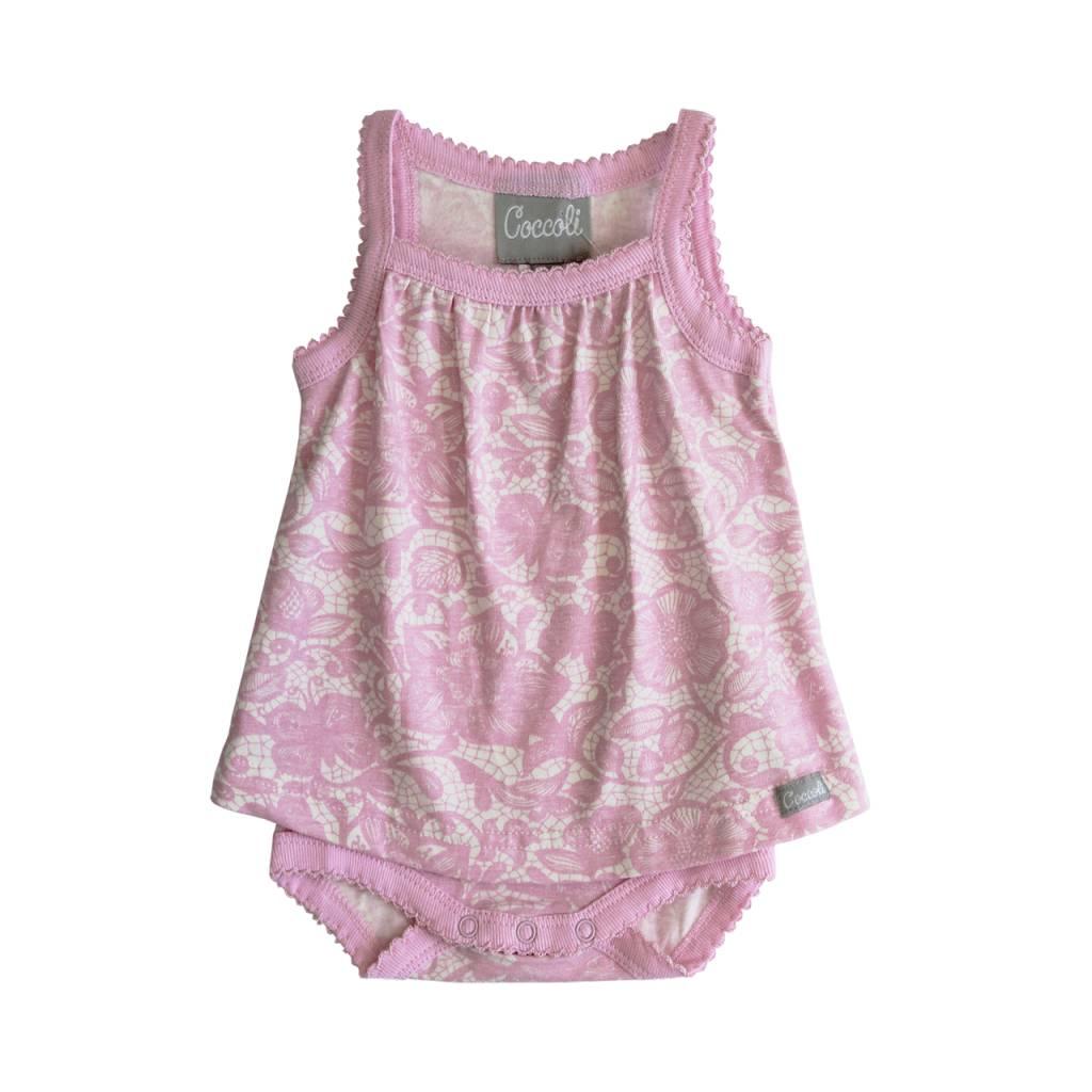 Coccoli Pink Lace Romper