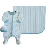 Coccoli Blue Velour Blanket
