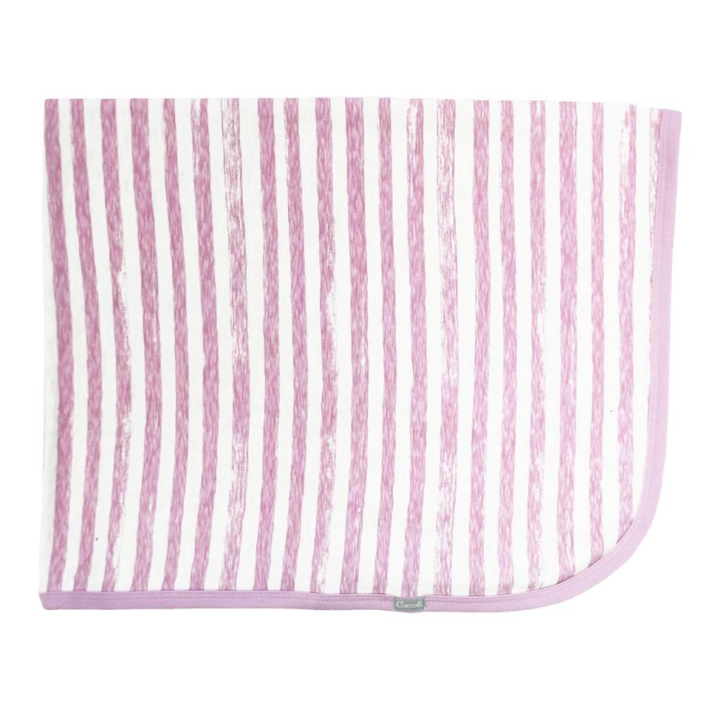 Coccoli Cotton Blanket Pink Striped