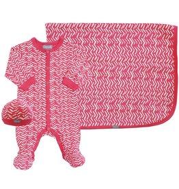 Coccoli Cotton Blanket Pink Zig Zag