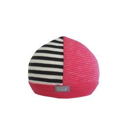 Coccoli Cotton Cap Pink/Grey Stripe