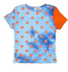 Mis MeMe Blue PolkaDot T-Shirt