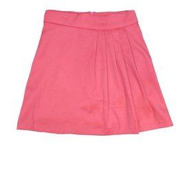 Mis MeMe Pleated Salmon Skirt