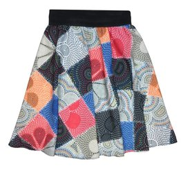 Alitsa Colorful Flower Patch Skirt
