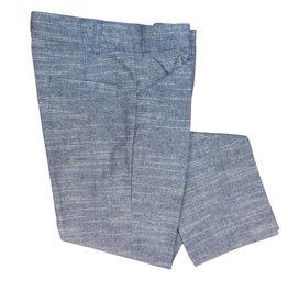 pompomme BOY BASIC PANTS INDIGO/WHITE