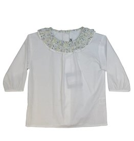pompomme GIRL RUFFLE AT NECK BLOUSE