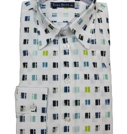 EURO CLUB COLLECTIONS COLLARED  SHIRT WITH  LONG SLEEVES, WHITE 2