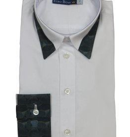 EURO CLUB COLLECTIONS LARGE COLLAR  SHIRT WITH  LONG BLUE