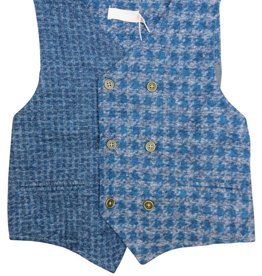 Charm Boys teal combo vest