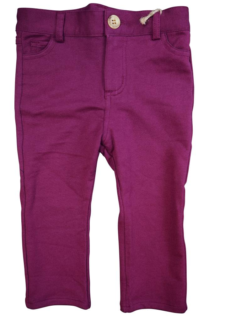 Crew Kids Slim Knit Pants Maroon