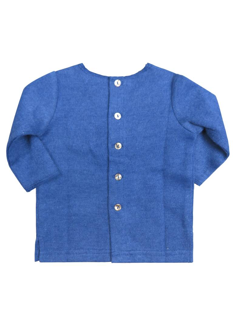 Crew Kids Long Sleeve Ribbed Top Blue