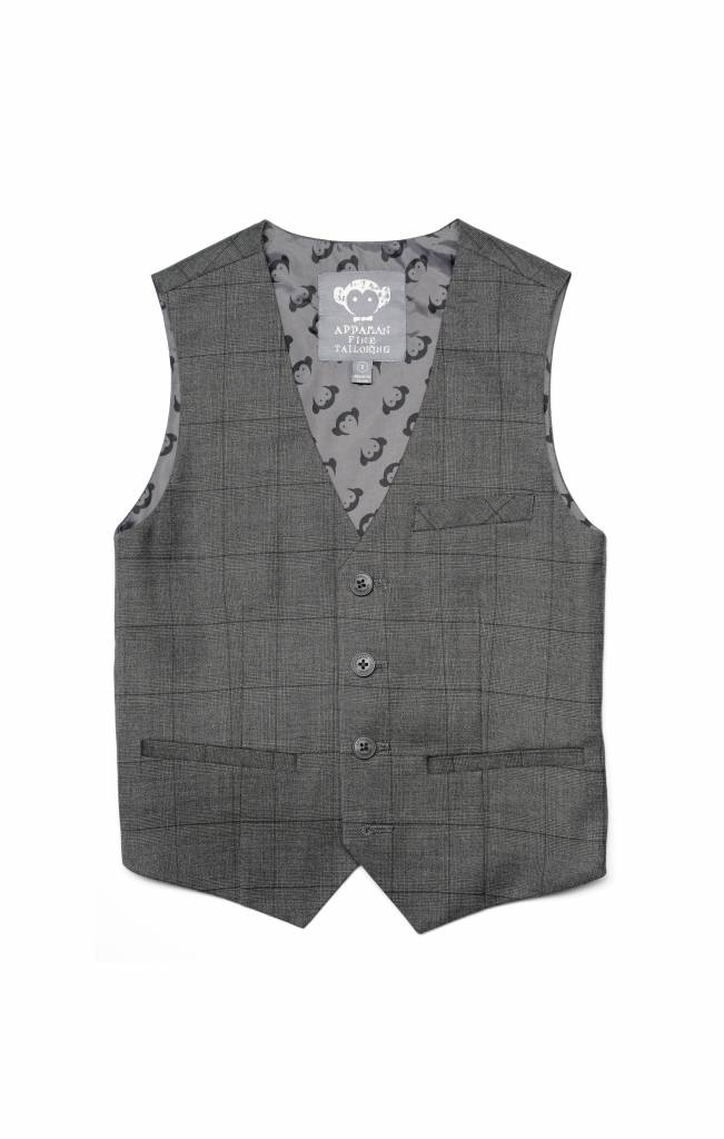 Appaman Tailored Vest Charcoal Wales Check