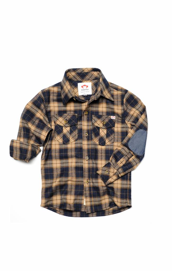 Appaman Flannel Shirt Nany/Ochre Plaid