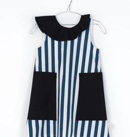 MOTORETA EDNA DRESS Blue & White stripes