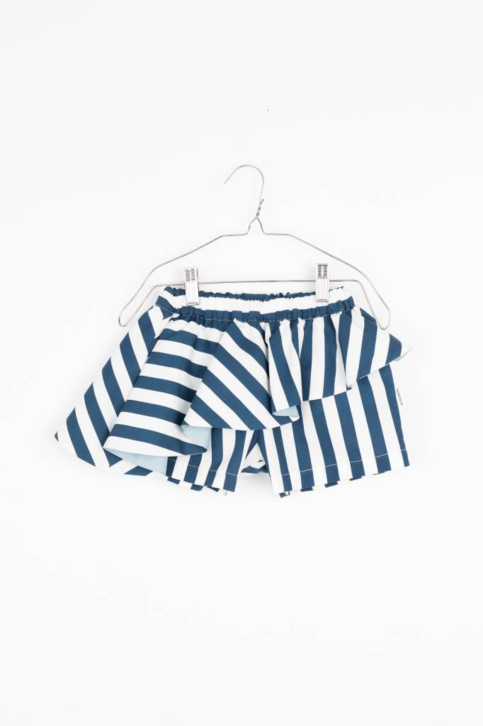 ABI SKORT Blue & White stripes...