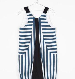 MOTORETA LUCIA DRESS Blue & White stripes