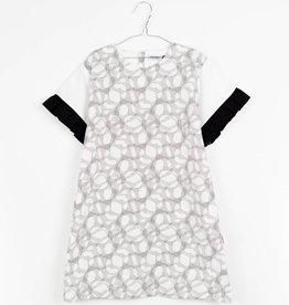 MOTORETA MAR DRESS Black & white halftone print