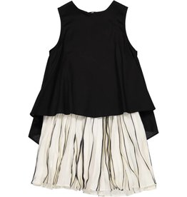 EURO CLUB COLLECTIONS PLEATED JUMPER WITH BLACK