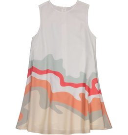 EURO CLUB COLLECTIONS CIRCLED  DRESS WITH MOUNTAINS PINK
