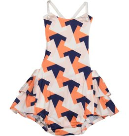 EURO CLUB COLLECTIONS BABY  BODYSUIT WITH ALL CORAL